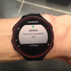 Forerunner 235 smart notification