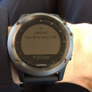 Fenix 3 HR smart notifications