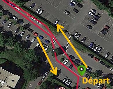 Trace GPS départ