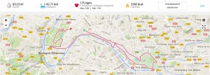 Trace GPS erreur marathon Paris