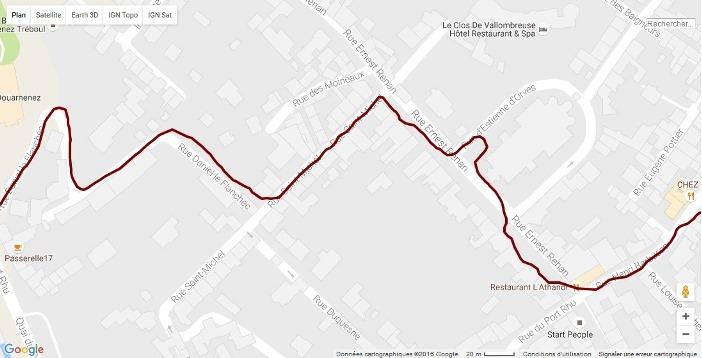 Trace GPS Spartan Ultra Douarnenez 2
