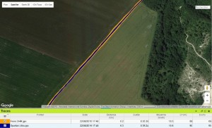Trace GPS Spartan Ultra ligne droite