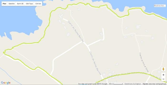Trace GPS Spartan Ultra sentier cotier