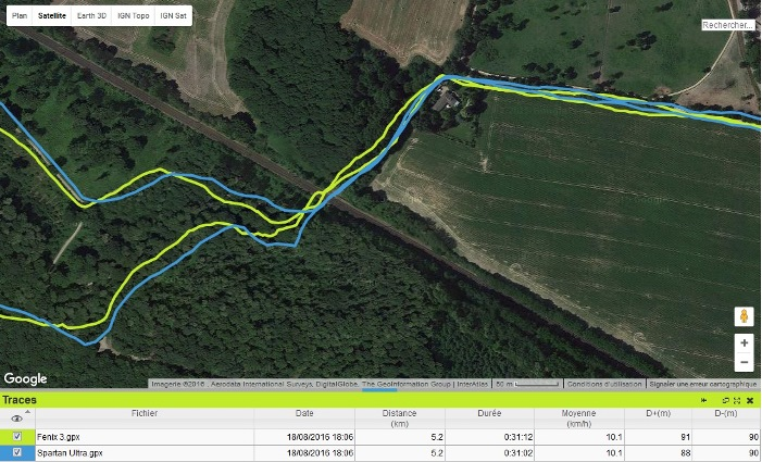 Trace GPS Spartan Ultra trail 1