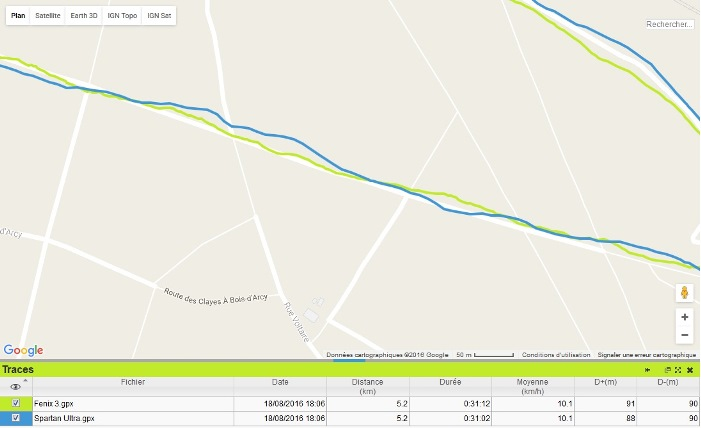 Trace GPS Spartan Ultra trail 2