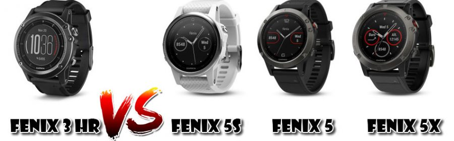 Fenix 5 vs Fenix 3 HR