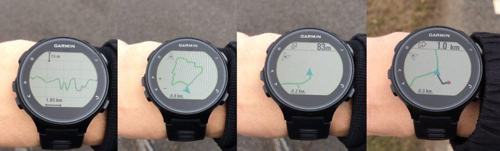 Forerunner 735XT navigation