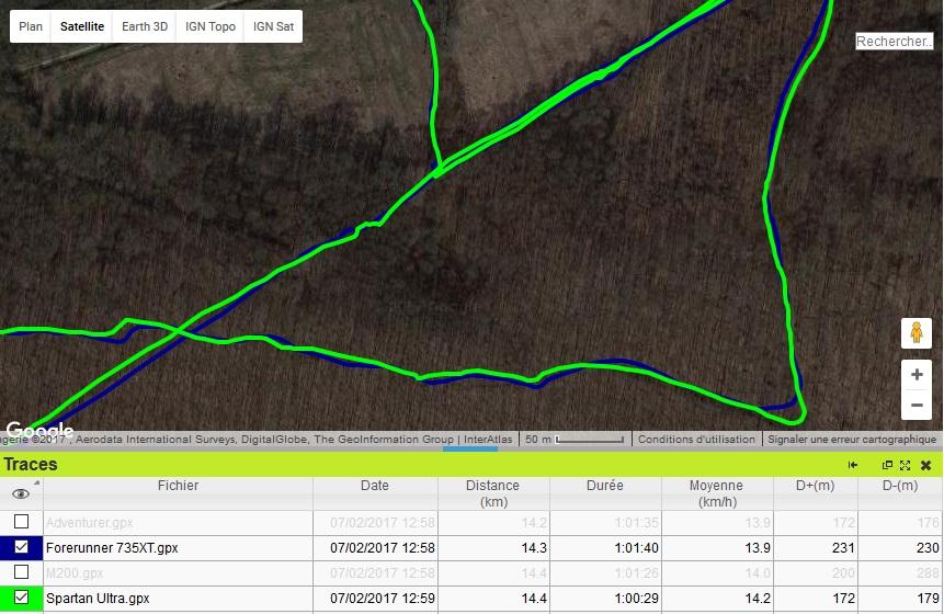 Forerunner 735XT précision GPS