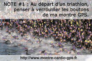 Montre GPS triathlon