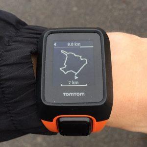TomTom Adventurer running
