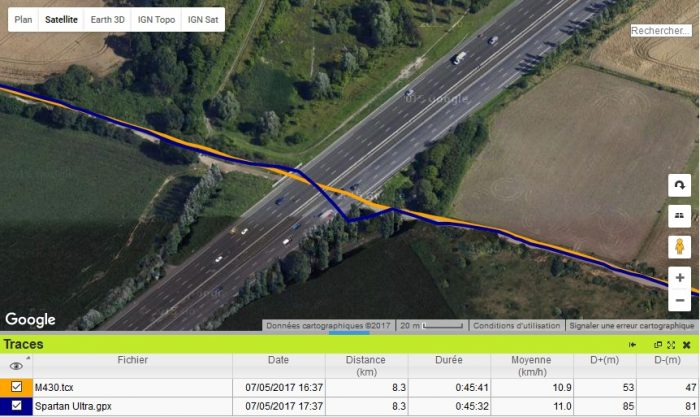 M430 sous tunnel signal GPS