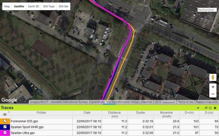 Forerunner 935 écart trace GPS