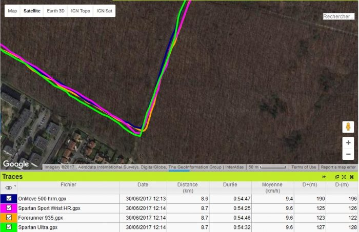 GPS virage 90 Forerunner 935