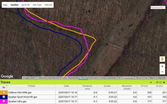 OnMove 500 HRM précision GPS