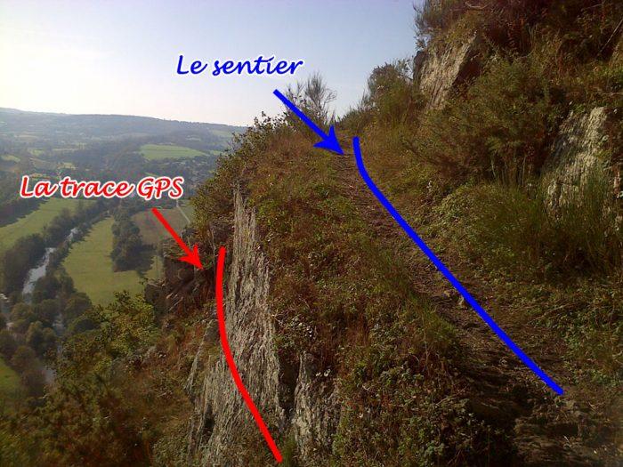 Sentier trail trace GPS