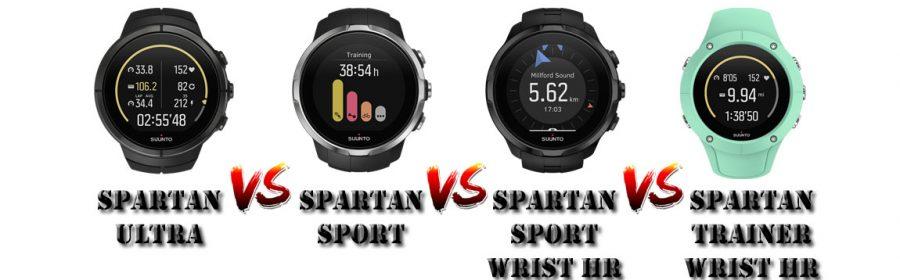 Comparaison montres Suunto Spartan