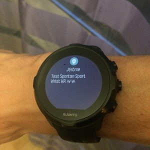 Spartan Sport Wrist HR smart notification