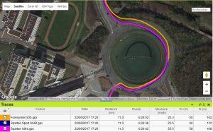 Trace GPS rond point Spartan Sport Wrist HR