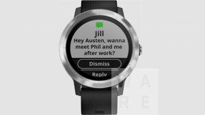 Vivoactive 3 smart notification