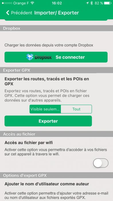 Exporter GPX