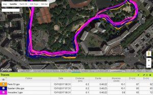 Trace GPS parc