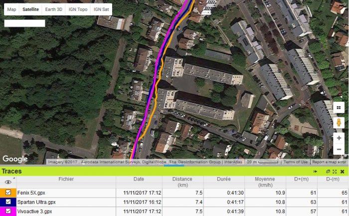 Vivoactive 3 GPS en ville