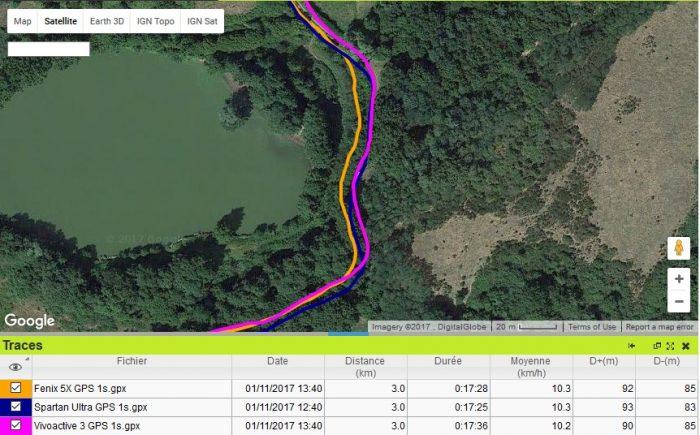 Vivoactive 3 GPS forêt