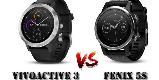 Comparaison Vivoactive 3 Fenix 5S