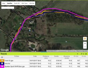 Trace GPS