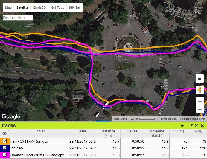 Trace GPS Ionic place Paris