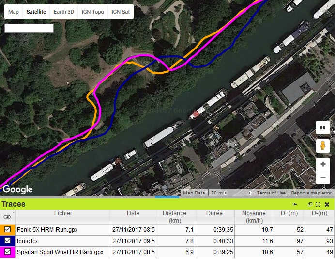 Trace GPS chicane