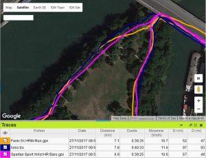 Trace GPS ile St Germain