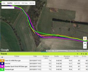 Précision GPS Vivosport bad