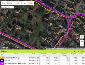 Trace GPS ville Spartan Sport WRH Baro