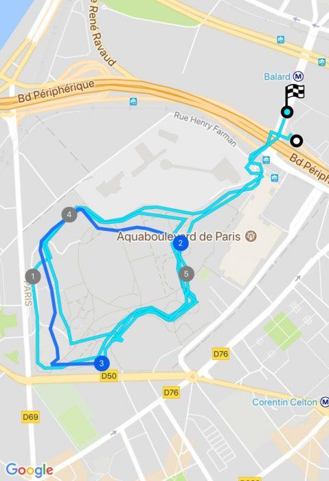 Précision GPS 3 boucles