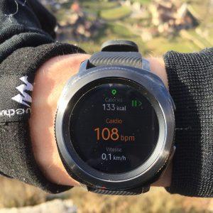 Samsung Gear Sport running
