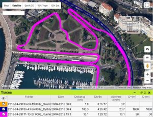 Triathlon Cannes trace running