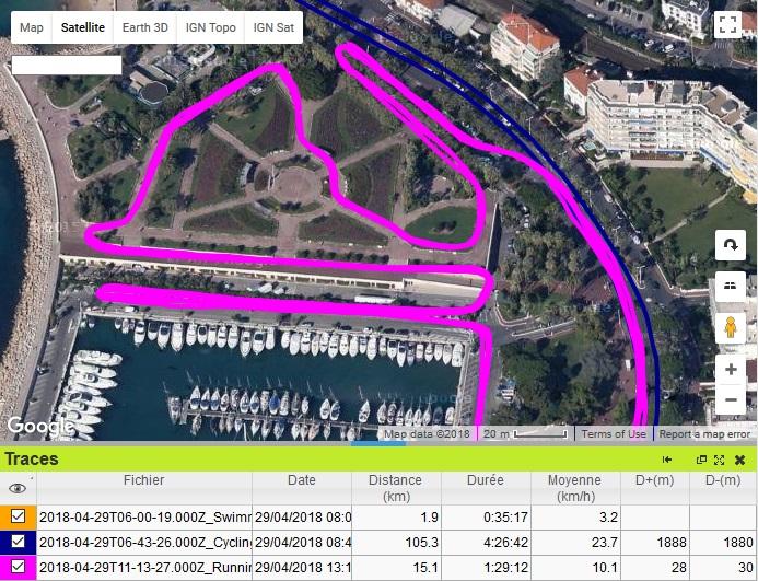 Triathlon Cannes trace running