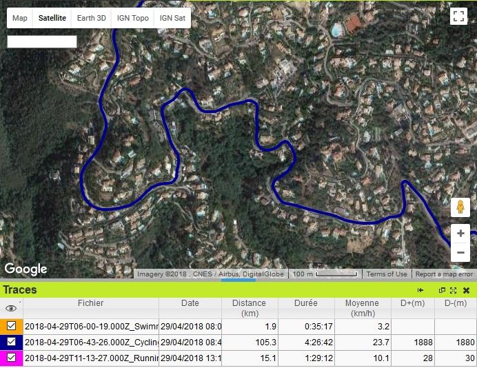 Triathlon Cannes trace vélo 1