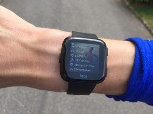 Fitbit Versa running