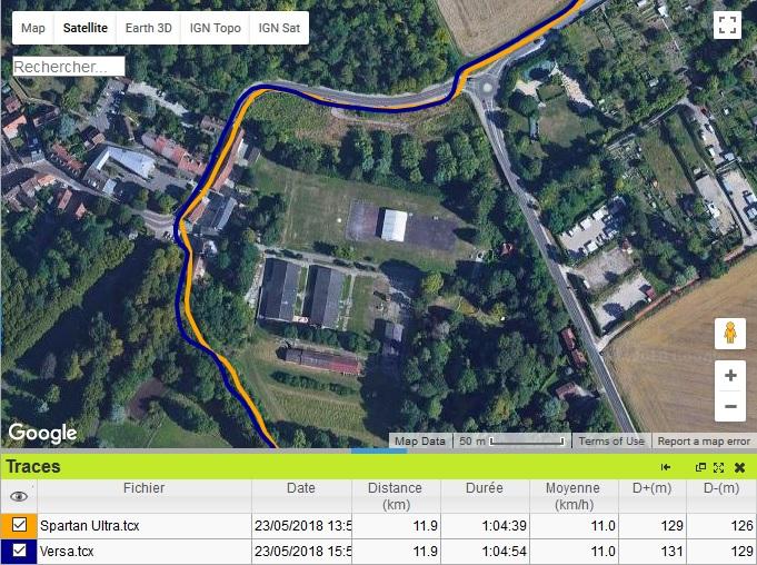 Versa précision GPS