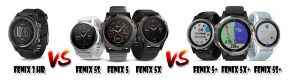 Fenix 3 vs Fenix 5 vs Fenix 5+