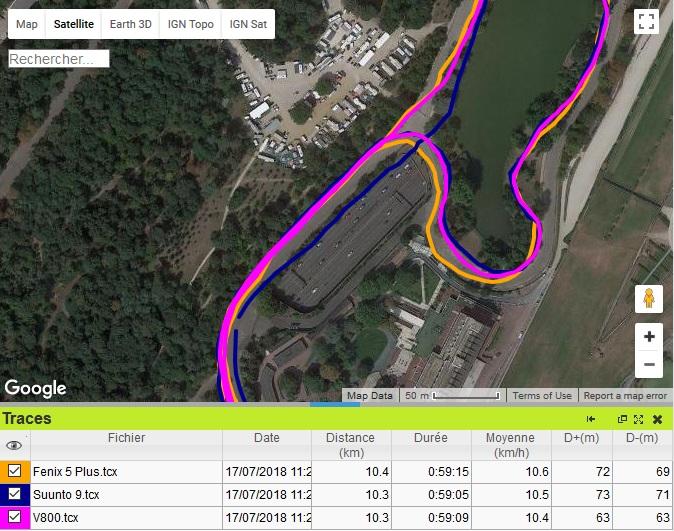 Fenix 5 Plus Trace GPS sousvirage