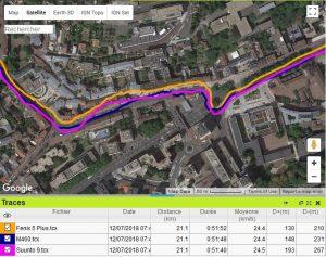 Fenix 5 Plus Trace GPS vélo Paris