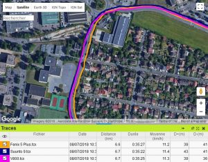 Fenix 5 Plus trace GPS écart