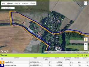 Coros Pace trace GPS