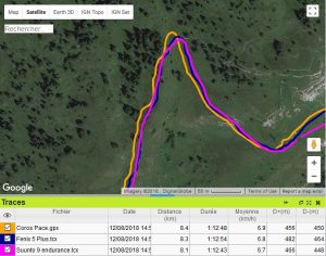 Coros Pace trace GPS trail