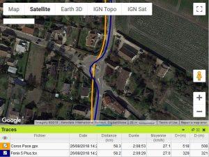 Coros Pace trace GPS lissée
