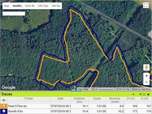 Suunto 9 GPS forêt moyen