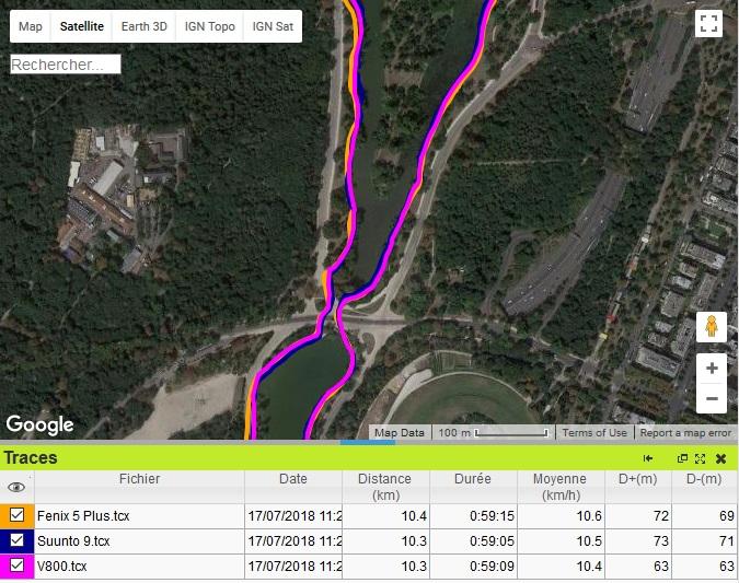 Suunto 9 précision GPS